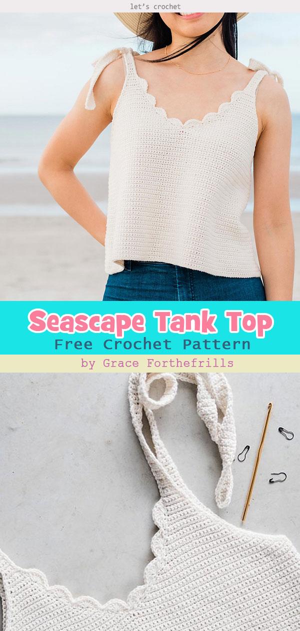 Seascape Scallop Tank Top Free Crochet Pattern