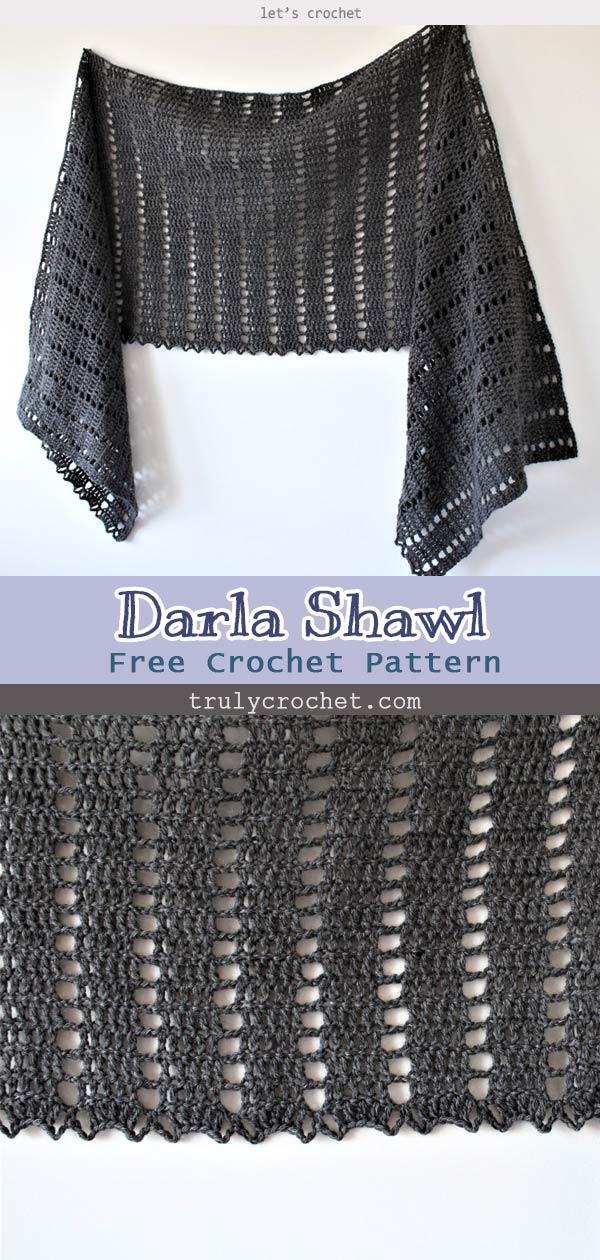 Crochet Darla Shawl – Free Crochet Pattern