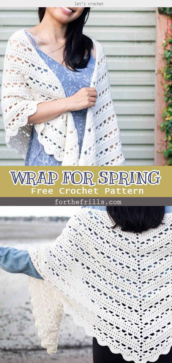 EASY CROCHET WRAP FOR SPRING! FREE PATTERN