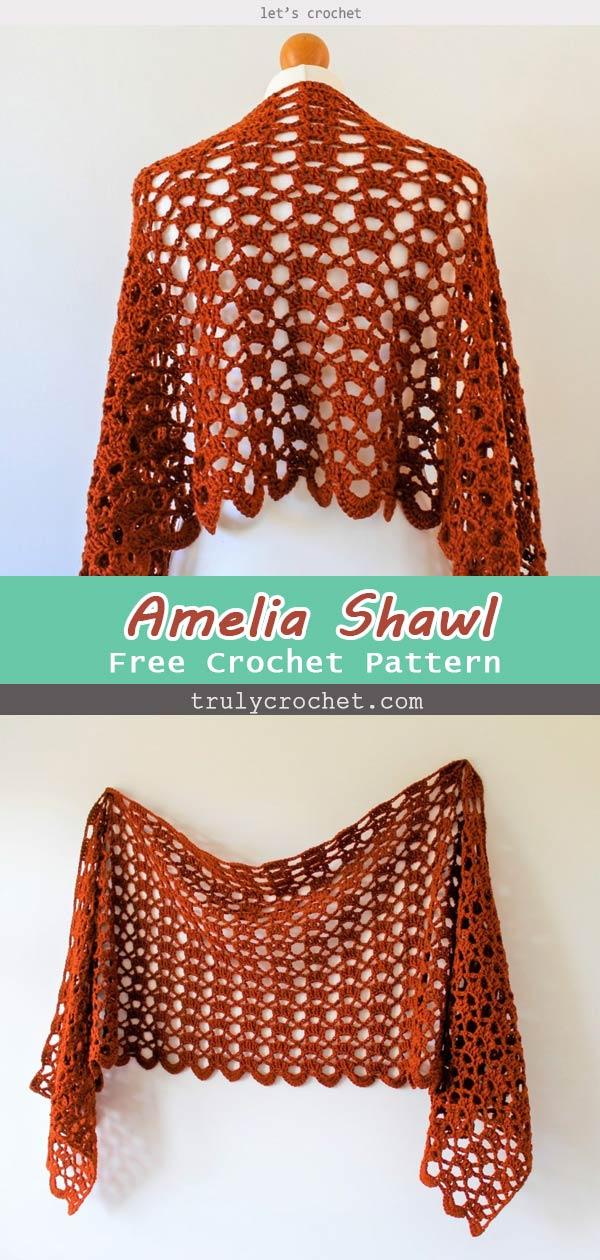 Amelia Shawl – Free Crochet Pattern