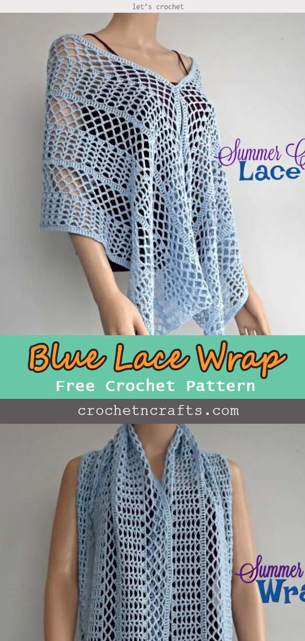 SUMMER CROCHET LACE WRAP