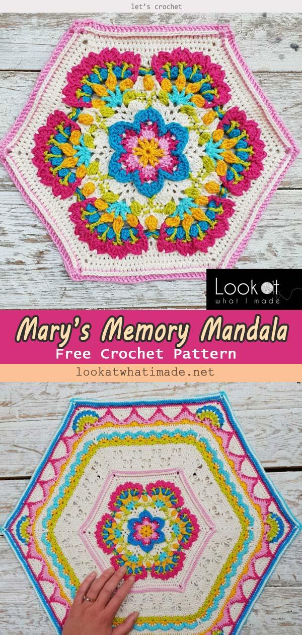Mary's Memory Mandala Free Crochet Pattern