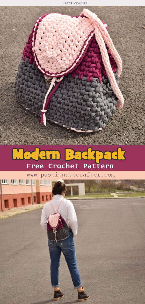 Modern And Stylish Backpack Free Pattern