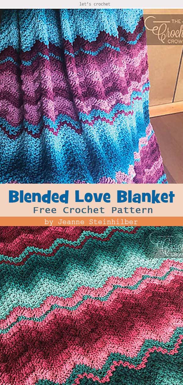 Blended Love Blanket Free Crochet Pattern
