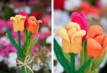 The Tulip Flower Free Crochet Pattern