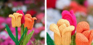 The Tulip Flower Free Crochet Pattern