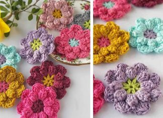 Crochet Easy Flowers Free Pattern