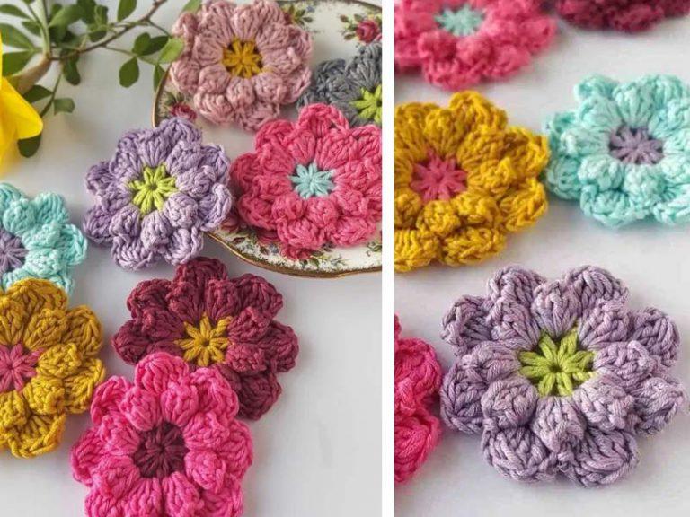 Crochet Easy Flowers Free Pattern