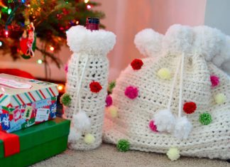 Crochet a Holiday Loot Bag – Free Crochet Pattern