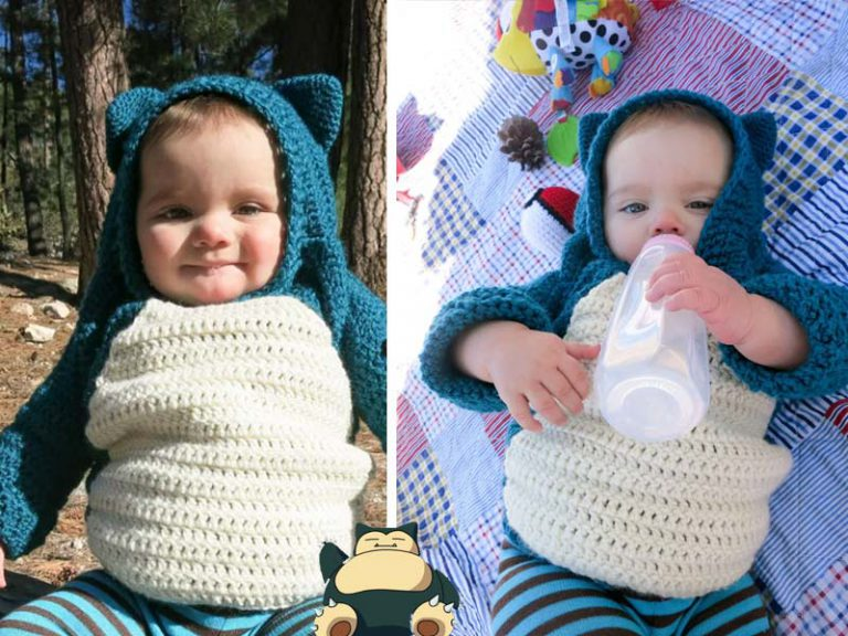 Snorlax Hoodie Mod For Baby Free Crochet Pattern