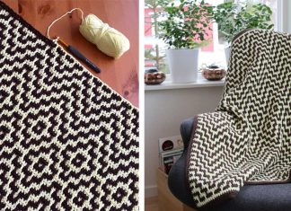 "The ""Two Steps Beyond"" blanket Crochet Free Pattern"