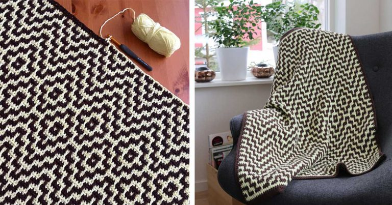 "The ""Two Steps Beyond"" blanket Crochet Free Pattern"