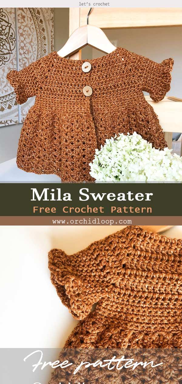 Kid Mila Sweater Free Crochet Pattern