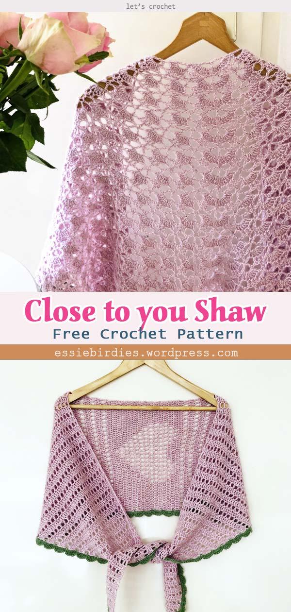 Close to you Shawl Crochet Free Pattern