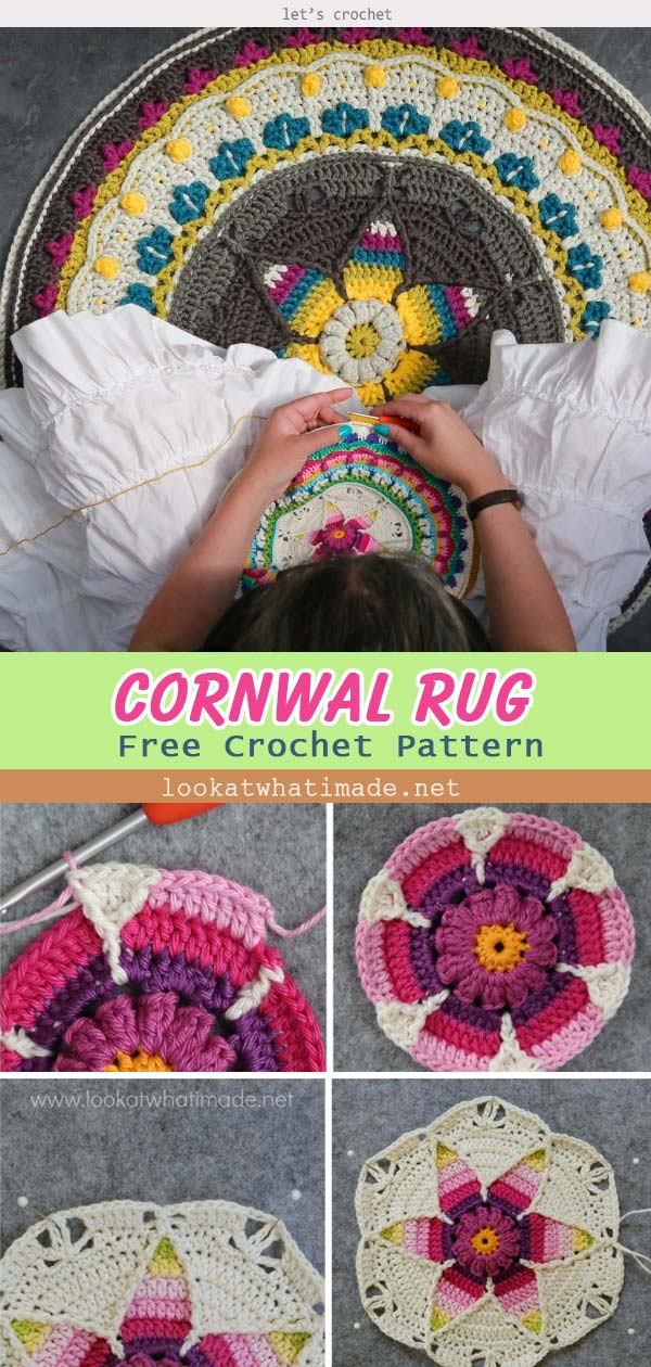 'Camping in Cornwall' Crochet Free Rug Pattern
