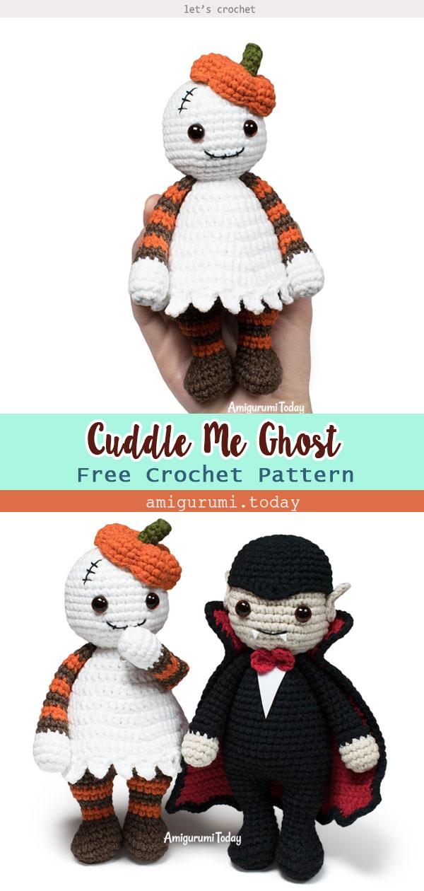 Halloween Cuddle Me Ghost Crochet Free Pattern