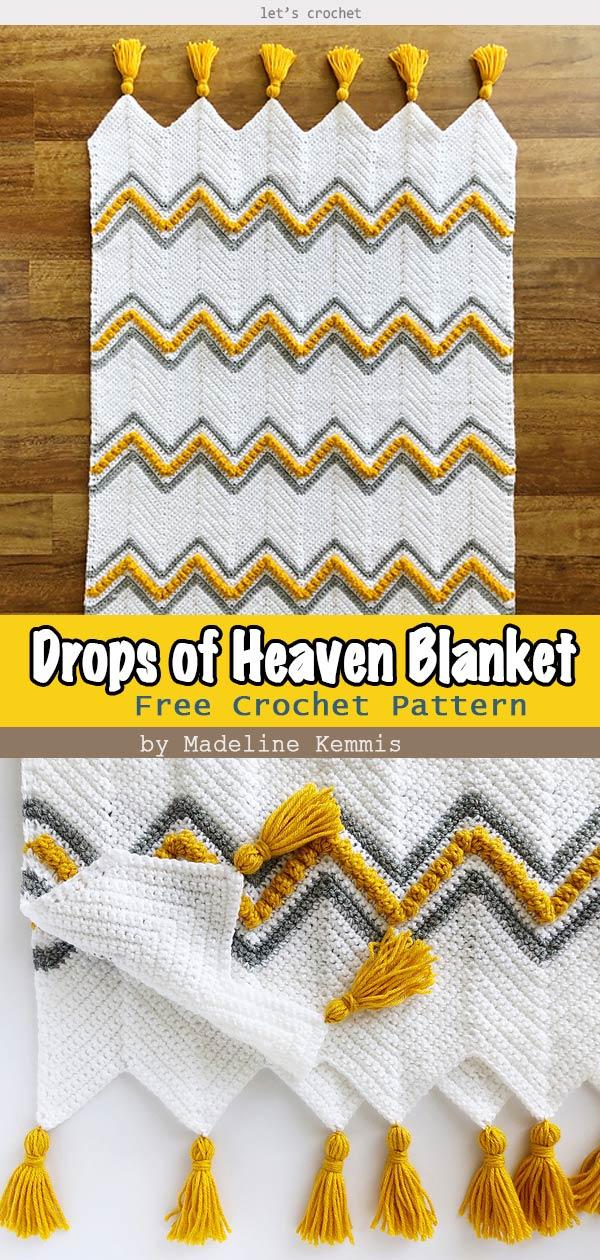 Drops of Heaven Blanket Free Crochet Pattern