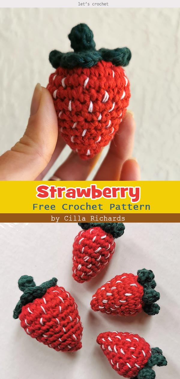 Strawberry Free Crochet Pattern