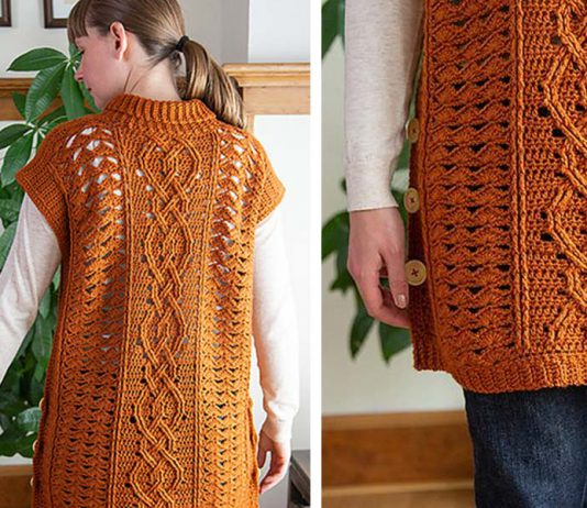 Midtown Mantle Tunic Free Crochet Pattern
