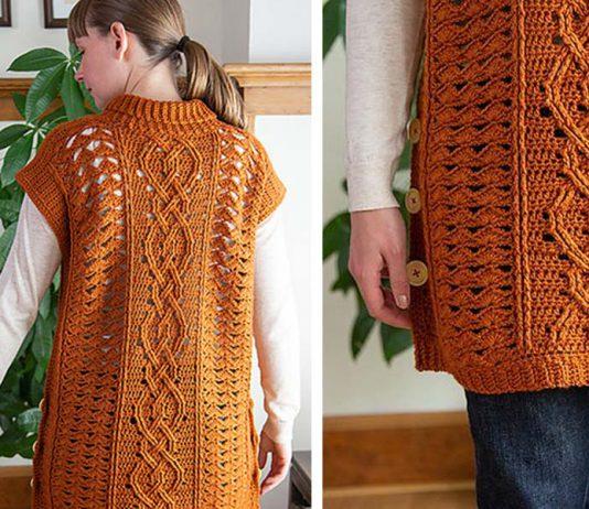 Midtown Mantle Tunic Free Crochet Pattern