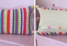 Rainbow Pops Pillow Free Crochet Pattern