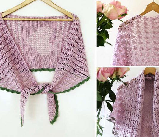 Close to you Shawl Crochet Free Pattern