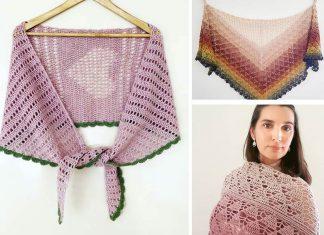 2 Elegant Shawl Crochet Free Pattern