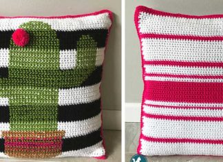 Crochet Cactus Pillow Free Pattern