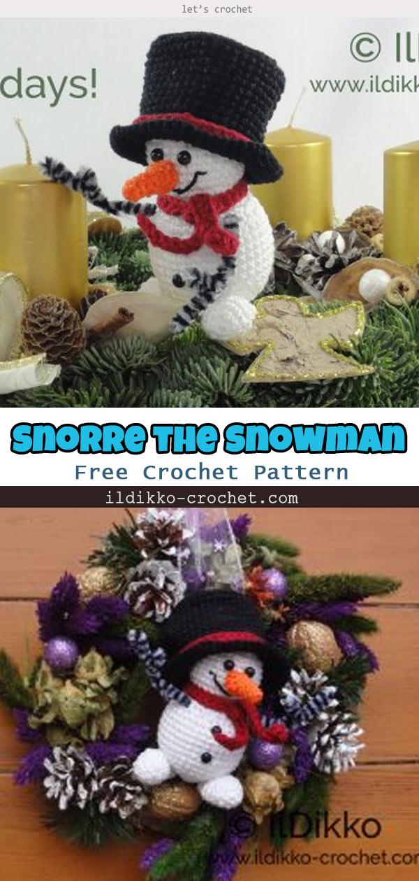 Christmas Snorre the Snowman Amigurumi Crochet Pattern