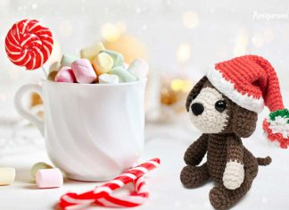 Amigurumi Christmas Puppy Hat Free Crochet Pattern