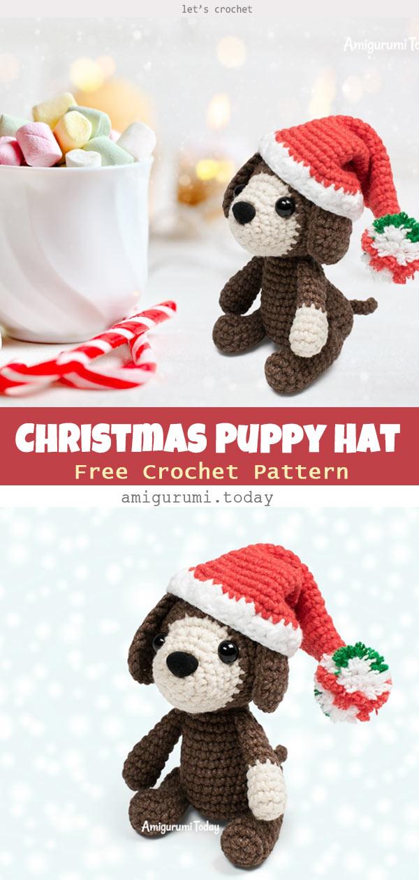 Amigurumi Christmas Puppy Free Crochet Pattern