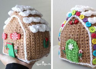 Crochet Christmas Gingerbread House ornaments Free Pattern
