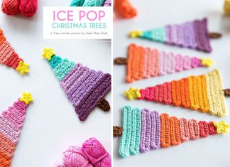 Ice Pop Christmas Trees Free Crochet Pattern