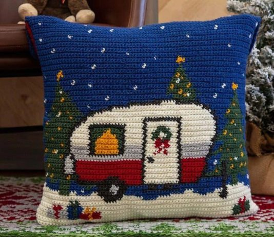Christmas Holiday Camper Crochet Pollow Free Pattern