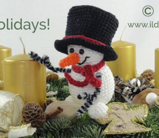 Christmas Snorre the Snowman Amigurumi Crochet Pattern