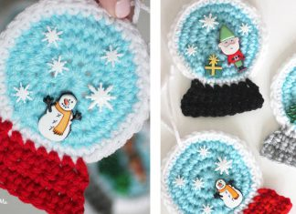 Crochet Christmas Snowglobe ornaments Free Pattern