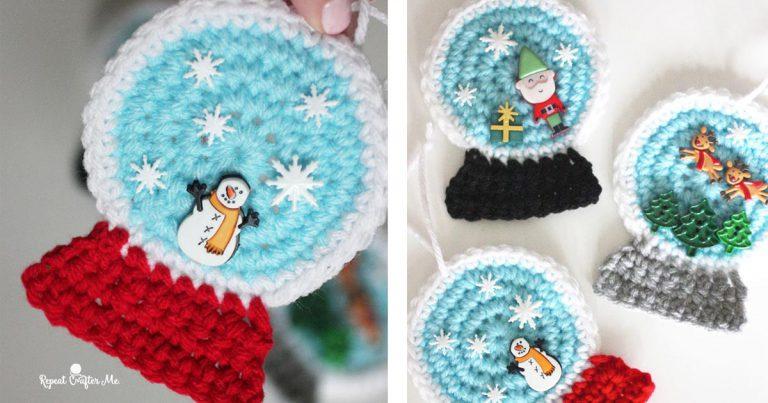Crochet Christmas Snowglobe Ornaments Free Pattern