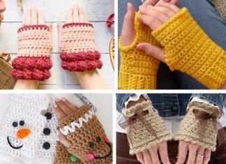 4+ Easy Fingerless Gloves Crochet Free Pattern