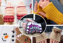 Granny Square Gloves Free Crochet Pattern