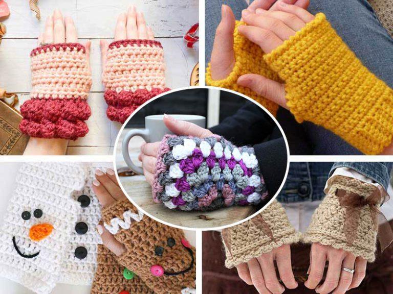 5 Easy Fingerless Gloves Crochet Free Pattern