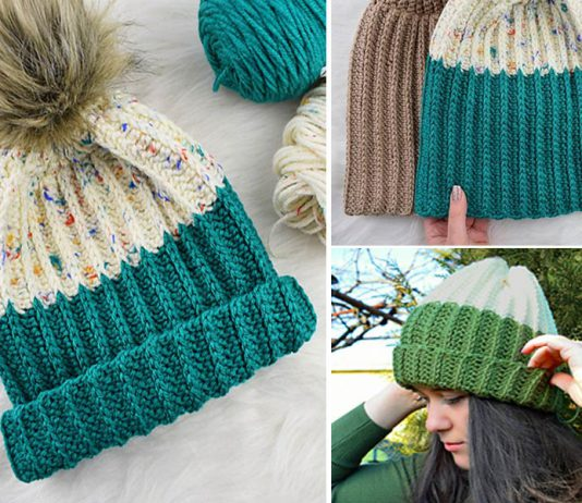 The Ribbed Hat Free Crochet Pattern