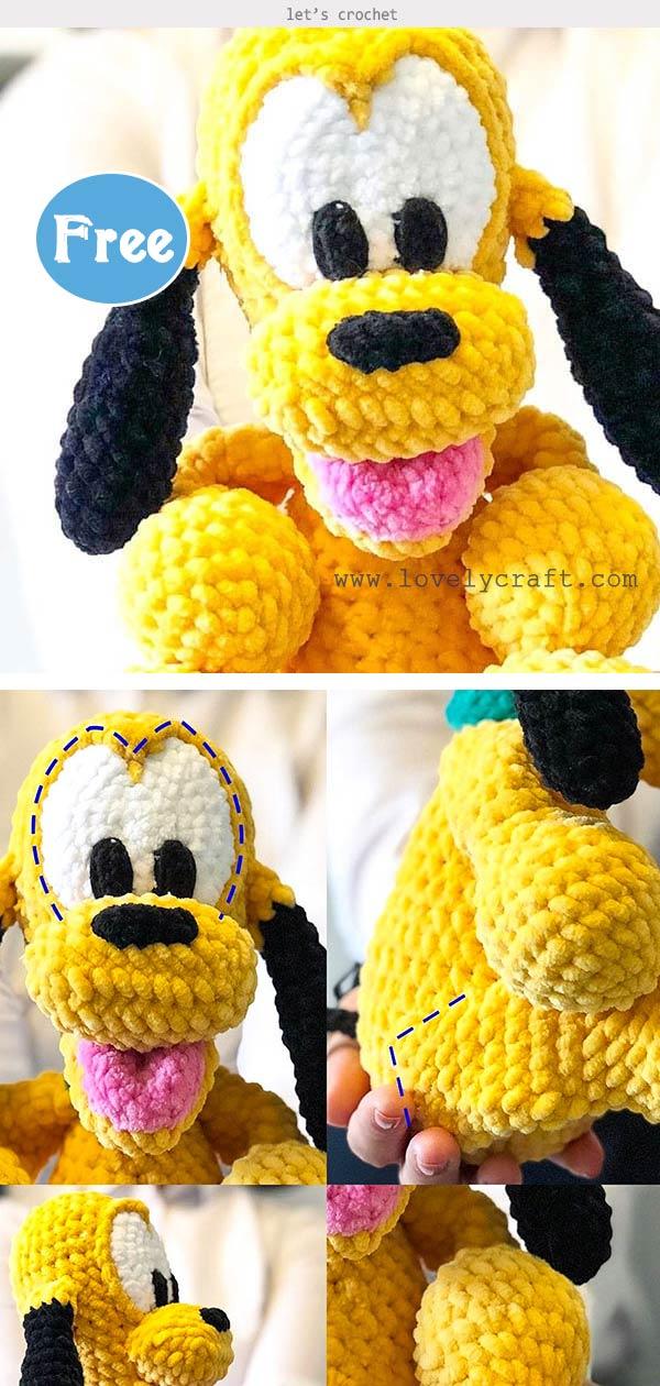 Baby Pluto Dog Amigurumi Free Crochet Pattern
