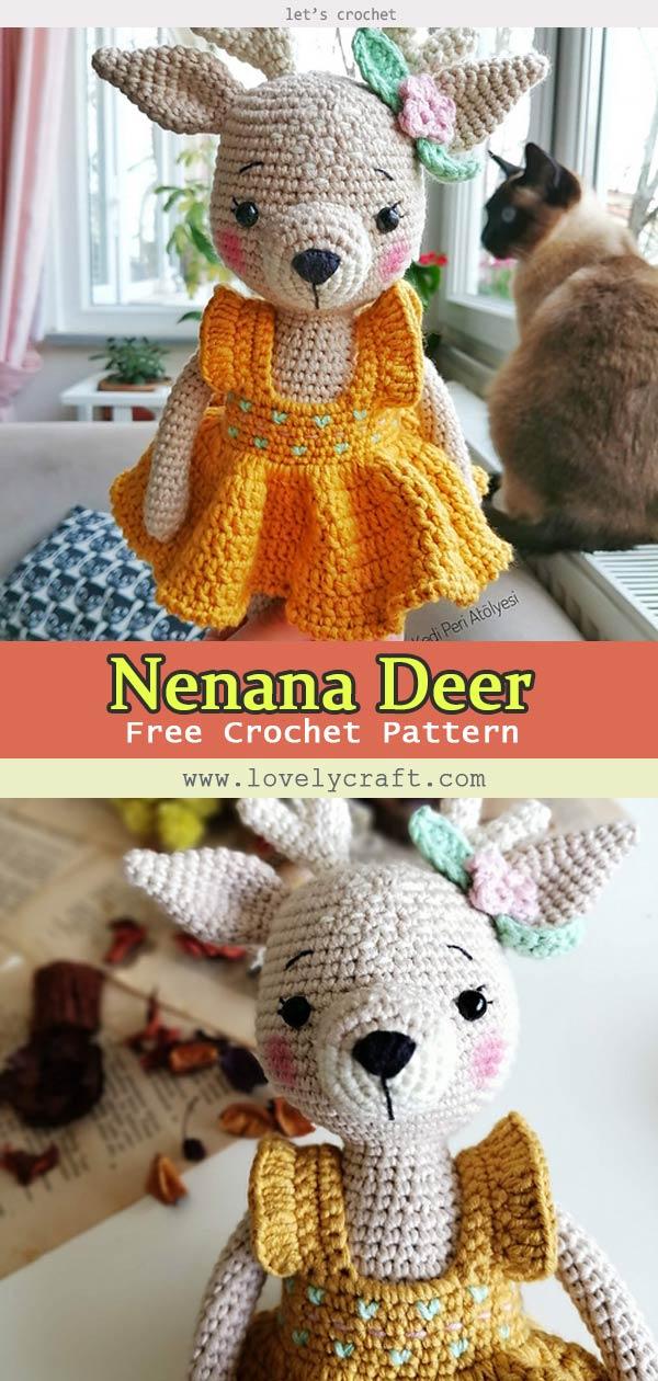 Nenana Deer Amigurumi Free Crochet Pattern