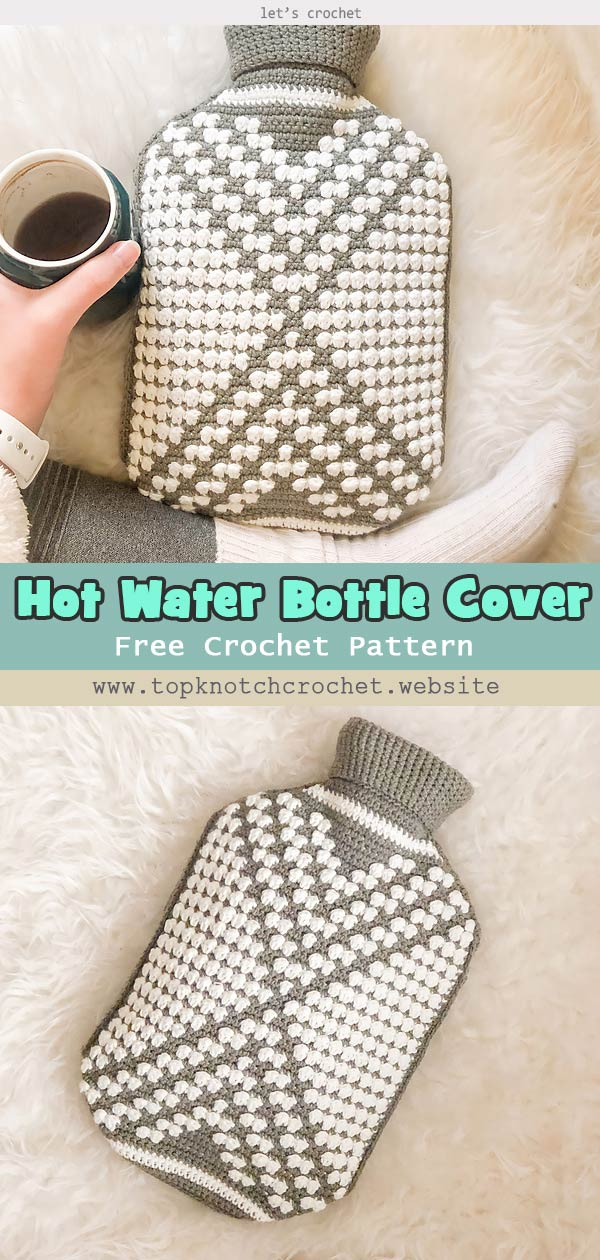 Hot Water Bottle Cover Free Crochet Pattern