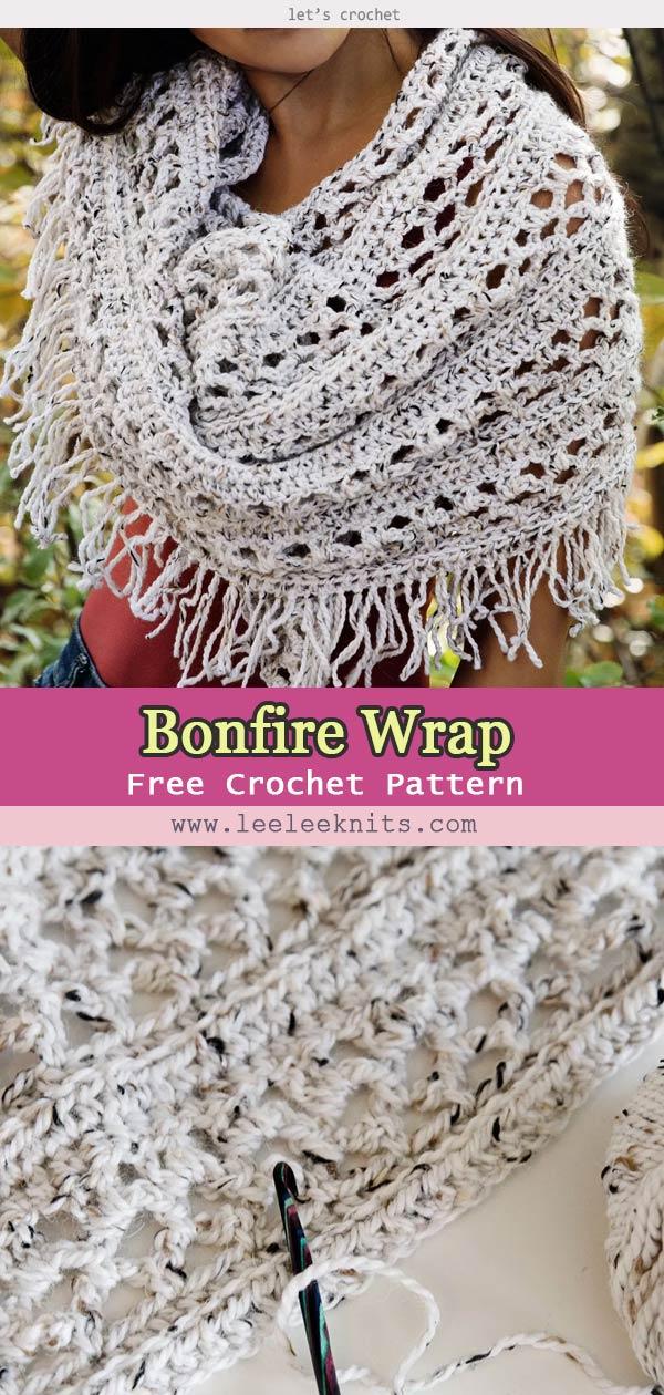 Bonfire Wrap Crochet Free Pattern
