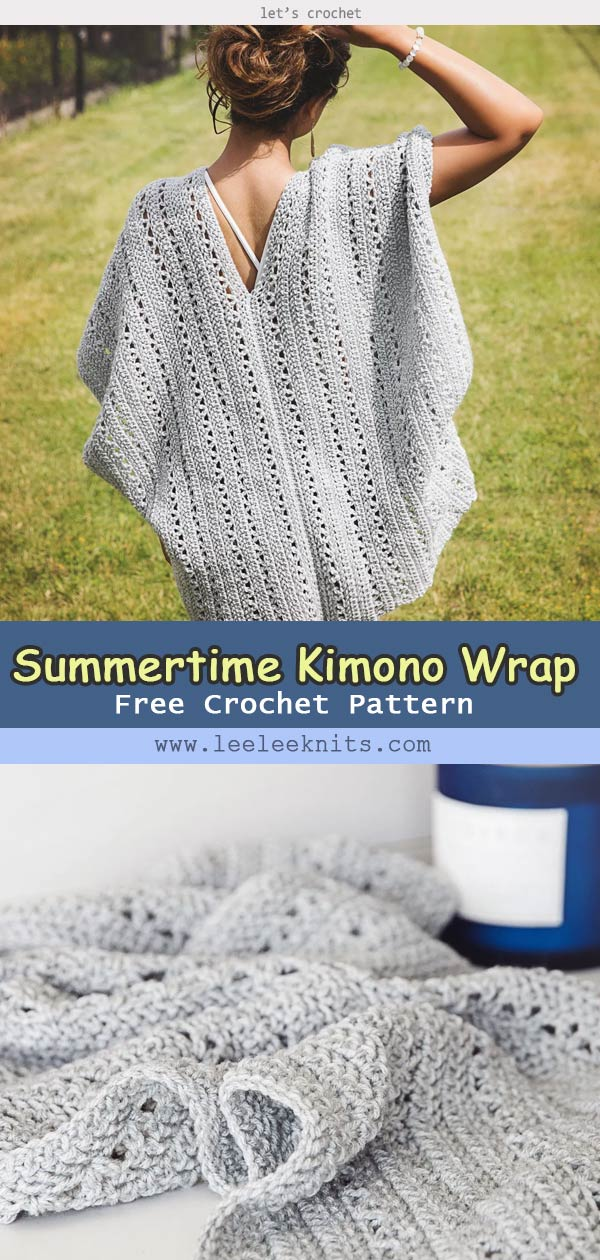 Summertime Kimono Wrap Crochet Free Pattern