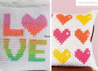 Crochet Love Pillow free Pattern