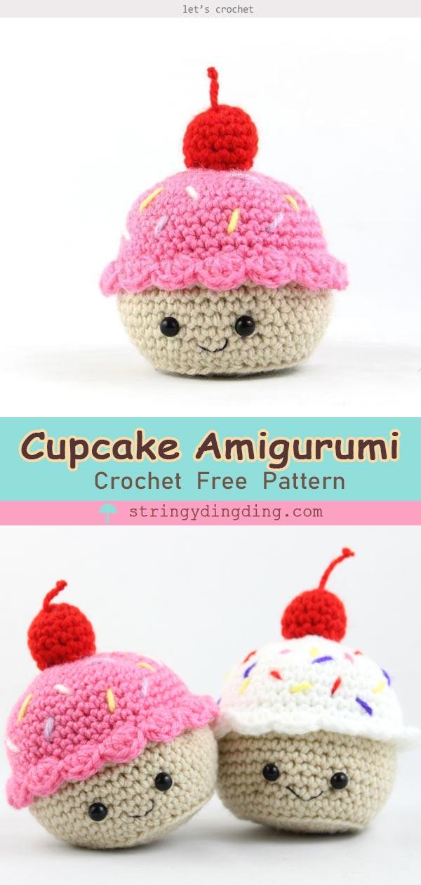 The 3 Cupcake Amigurumi Free Crochet Pattern