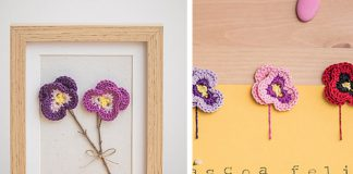Amor-Perfeito Flower Free Crochet Pattern