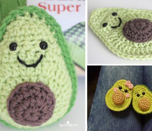 Avocado Amigurumi Crochet Free Pattern